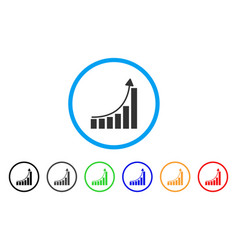 Hyip bar chart icon vector