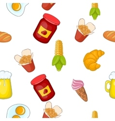Junk food pattern cartoon style vector