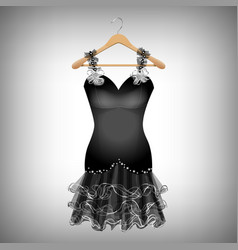 little black dress vector image