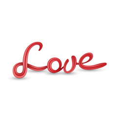 love 3d lettering vector image