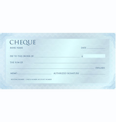 Luxury yellow gold cheque template with vintage vector