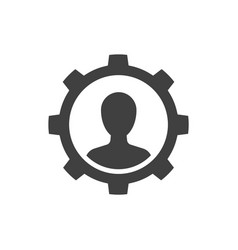 Manager black icon on white background management vector