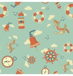 maritime pattern vector image