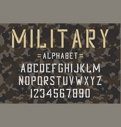 military stencil font vector image