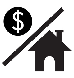Money over House vector image