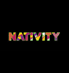 nativity concept word art vector image