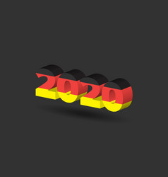 New year sign with germany flag texture vector