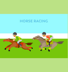 people riding on horseback men and horses vector image