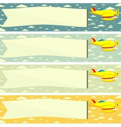 Plane with a Poster or Banner vector image
