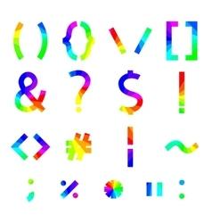 Rainbow alphabet symbols vector image