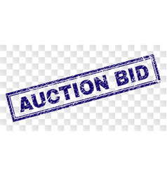 scratched auction bid rectangle stamp vector image