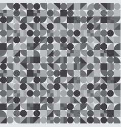 seamless pattern geometric shapes variety tiles vector image