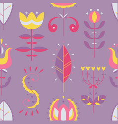seamless pattern in scandinavian style vector image