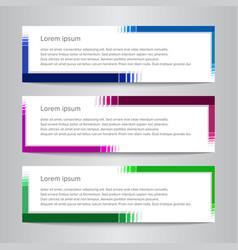 Set design banner template simple vector