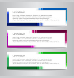 set of design banner template simple vector image