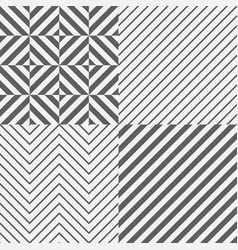 set of seamless tile diagonal lines vector image