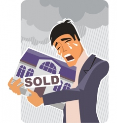 SOLD house sign vector image