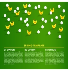 Spring easter infographics background card with vector image