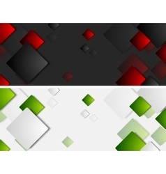 Tech banners with squares vector