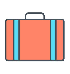 travel bag line icon simple minimal pictogram vector image