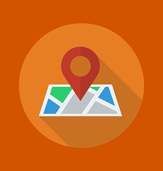 Travel Flat Icon Map vector