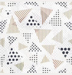 triangle seamless pattern with cloth effect vector image