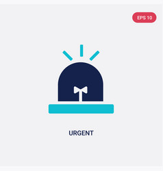 Two color urgent icon from human resources vector