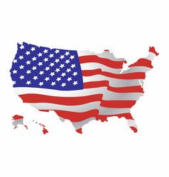 usa map with flag vector image