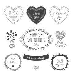 Valentines day elements vector image