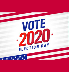 Vote 2020 presidential election usa light stripes vector