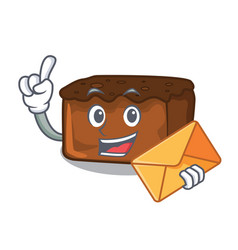 With envelope brownies character cartoon style vector