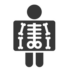 x ray simple icon on white background vector image