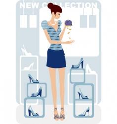 economy shopping vector image vector image