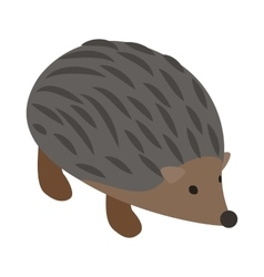 Hedgehog icon isometric 3d style vector image