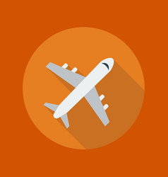 Travel Flat Icon Plane vector image