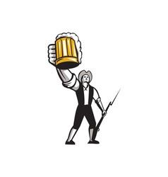 American Patriot Craft Beer Musket Bayonet Retro vector image vector image