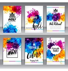 Calligraphic header and banner set vector image