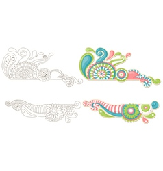 cute hand-drawn doodle vector image vector image