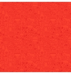 Line Red Grill Seamless Pattern vector image