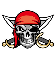 Skull pirate head vector