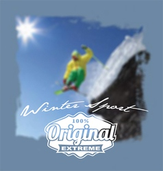 winter sport original extreme vector image vector image