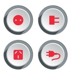 Electric socket base icon set Power energy symbol vector image vector image