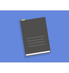 Flat book icon vector image vector image