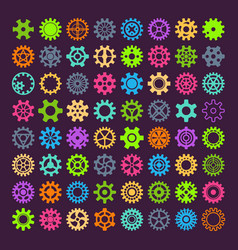 gear mechanism icons isolated vector image