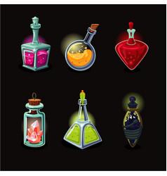 magic bottle set game design icons set vector image