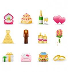 wedding marriage vector image