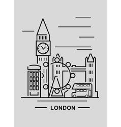 black london vector image vector image