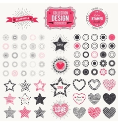 Collection of premium design elements vector image
