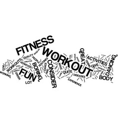 fitness workout for your financial muscles text vector image vector image