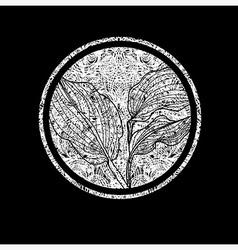 floral logo 01 grunge vector image